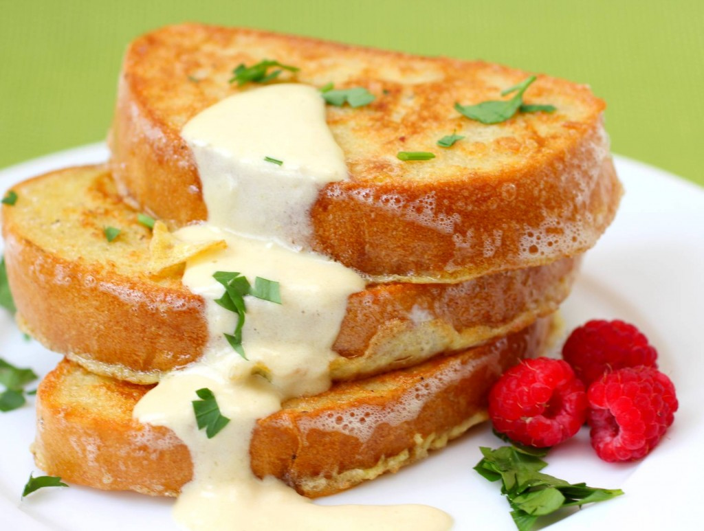 Savory Parmesan French Toast with Hollandaise Sauce