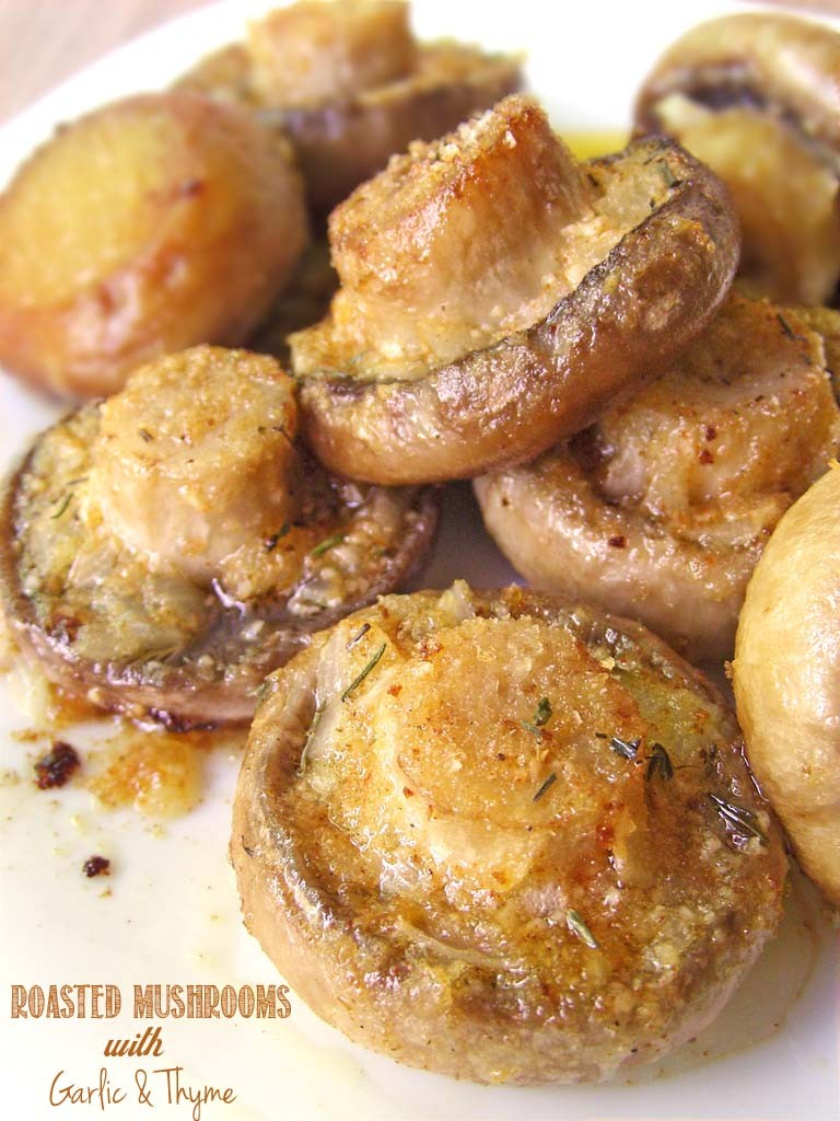Roasted Mushrooms Garlic Thyme