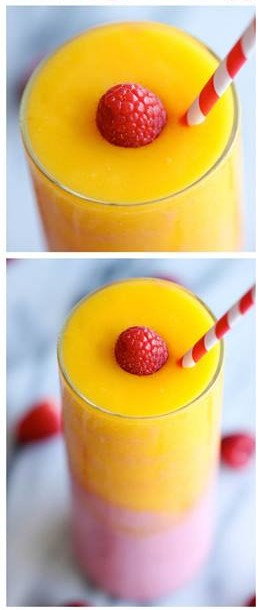 Raspberry Sunrise Smoothie