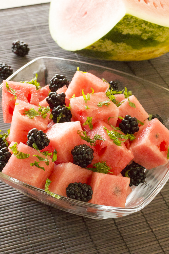 Watermelon, Blackberry, and Mint Salad