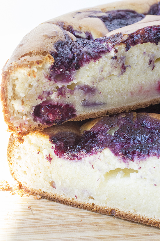 Berry Swirl Loaf Cake Yogurt Double