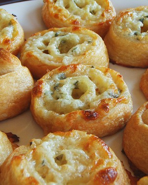 Three cheese pinwheels