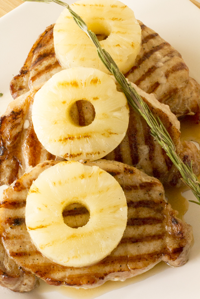 Skinny Pineapple Teriyaki Pork Chops
